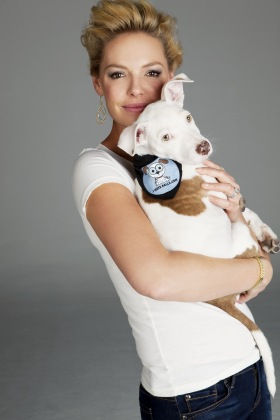 Katherine Heigl With Snip The Campaign Mascot