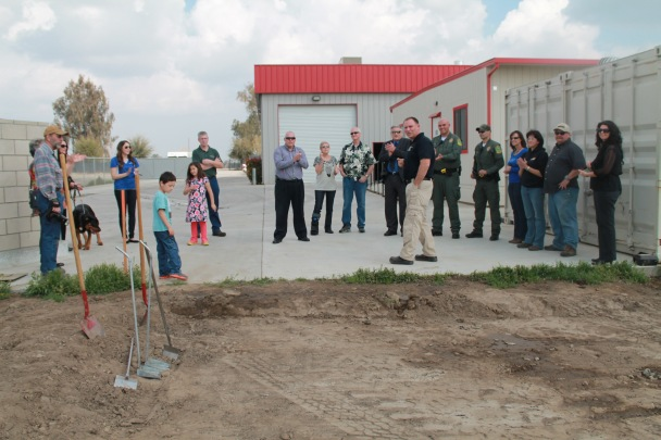 Frank Furtaw Leading The Groundbreaking Ceremony At The Tulare Animal Shelter