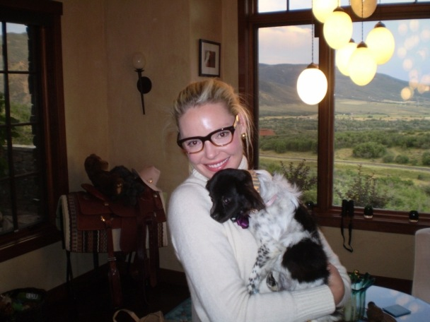 Katherine Heigl & Rescue Pup Lola Sporting Her Just One Collar