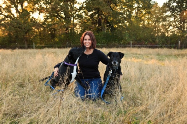 April Mixon With Tuxedo & Lucky