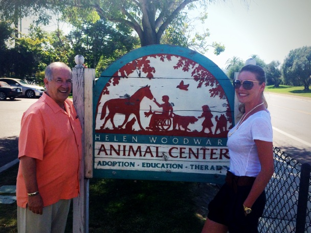 Katherine Heigl & Helen Woodward Animal Center President Mike Arms