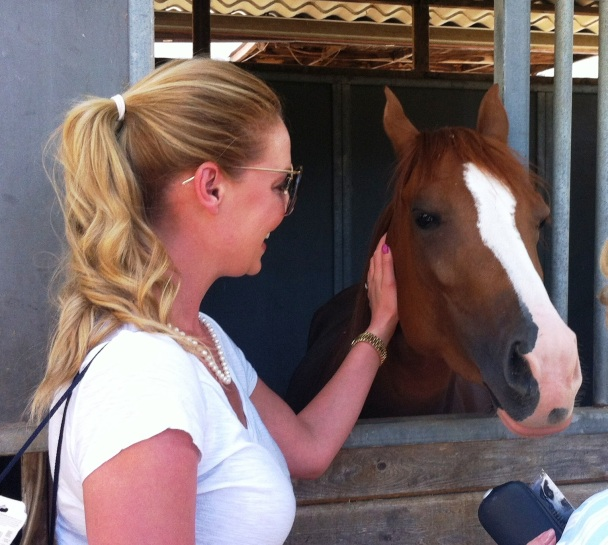 Katherine Heigl Visits Angel At The Helen Woodward Animal Center