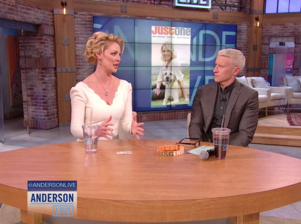 Katherine Heigl Meets & Anderson Cooper Meet The Rescued Puppies