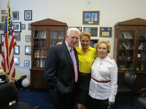 Congressman Jim Moran (D-VA), Katherine Heigl & Nancy Heigl